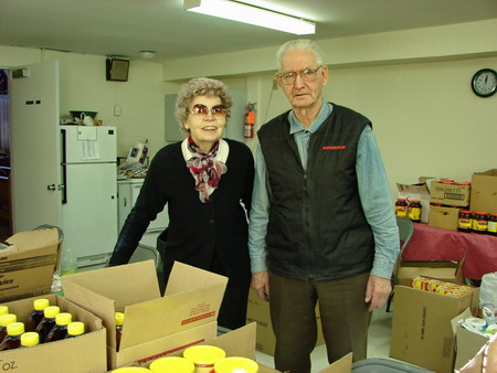 Harold & Yvonne Volunteers for St. Vincent De.Paul