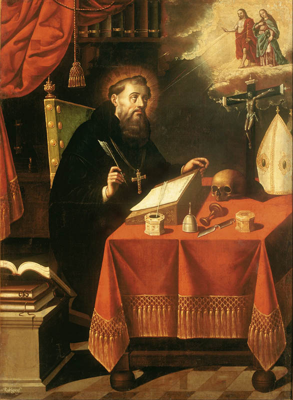Antonio_Rodríguez_-_Saint_Augustine_-1650