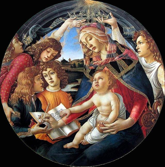 Botticelli_1483_madonna_Uffizi
